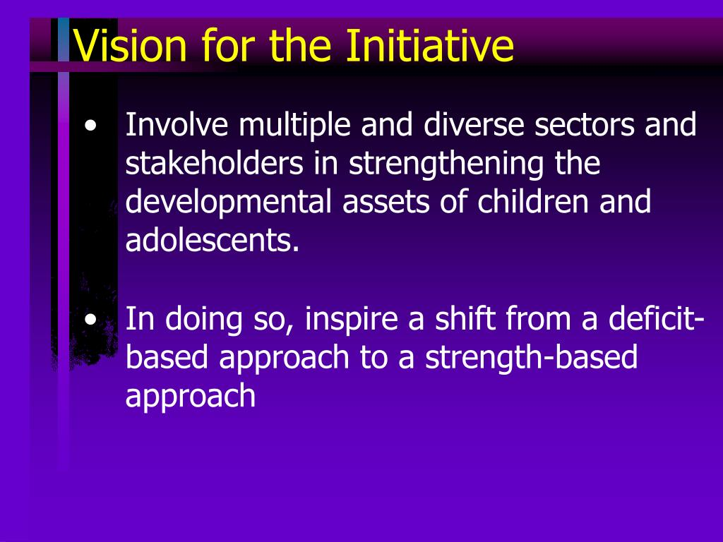 Vision for the Initiative