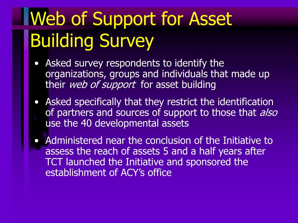 Web of Support for Asset Building Survey