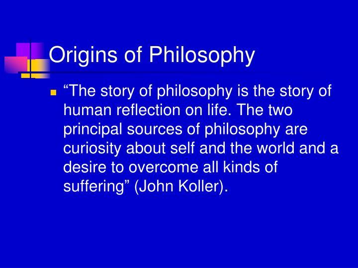 Origins of Philosophy