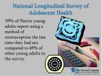 national longitudinal survey of adolescent health22