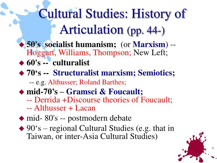 Cultural Studies: History of Articulation