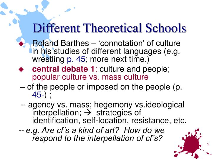 Different Theoretical Schools