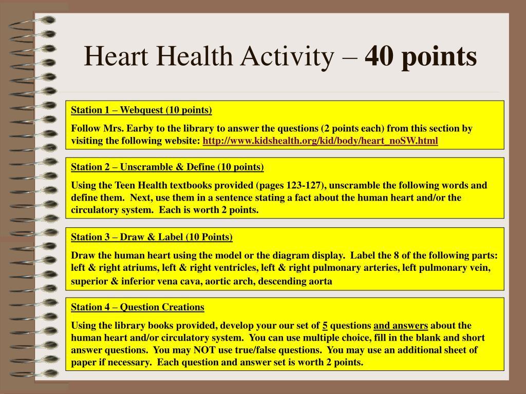 Heart Health Activity –