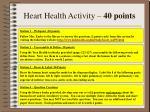heart health activity 40 points
