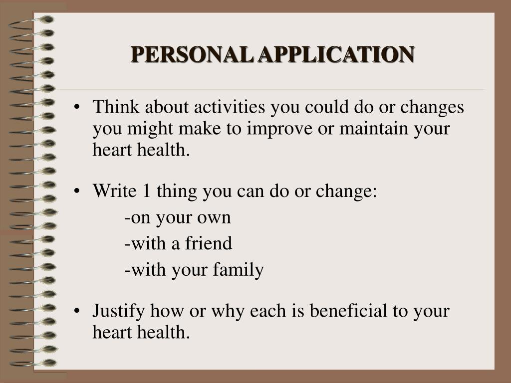 PERSONAL APPLICATION