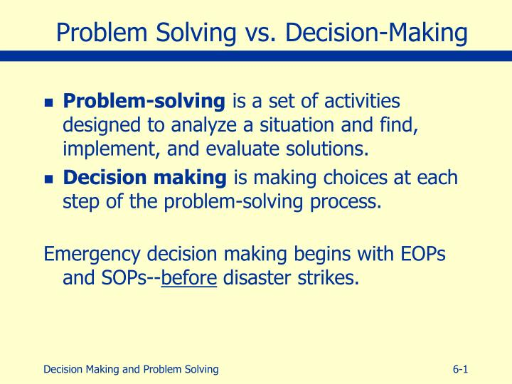 decision analysis problems How did you take on the problem looking back were you certain there was no value left on the table decision analysis the decision analytic advantage.