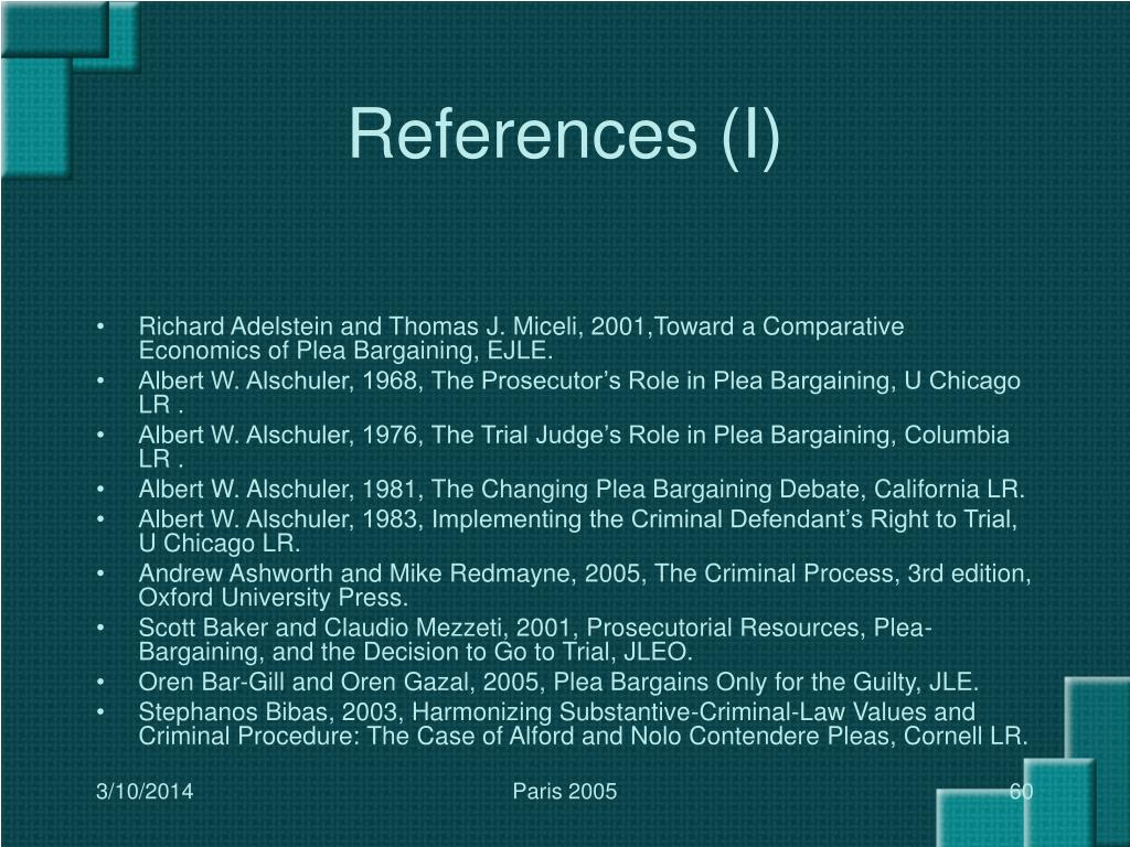 References (I)