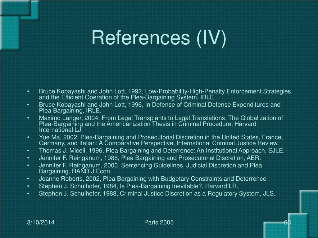 References (IV)
