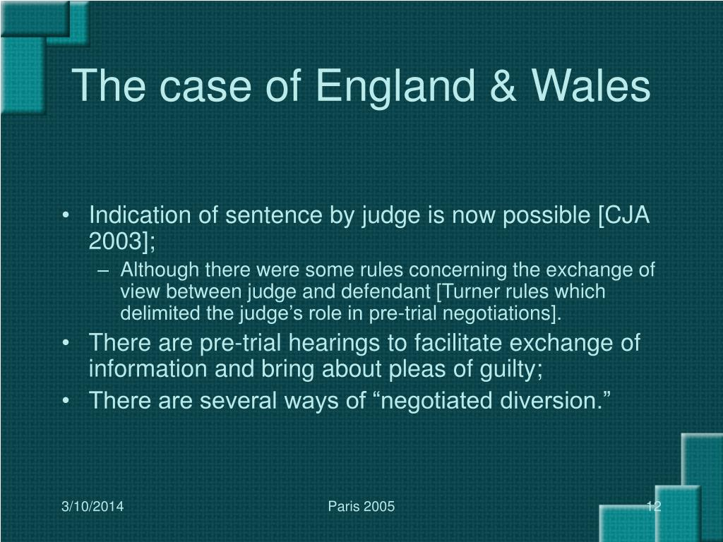 The case of England & Wales