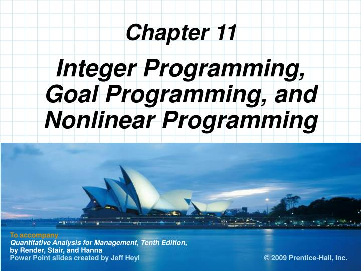 integer programming goal programming and nonlinear programming n.