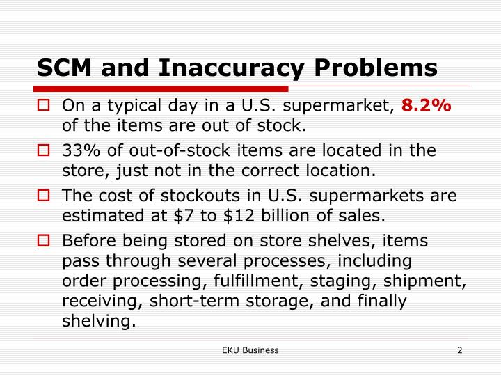 Scm and inaccuracy problems