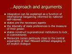 approach and arguments11