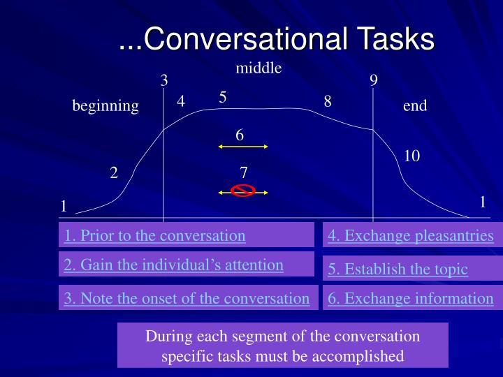 ...Conversational Tasks