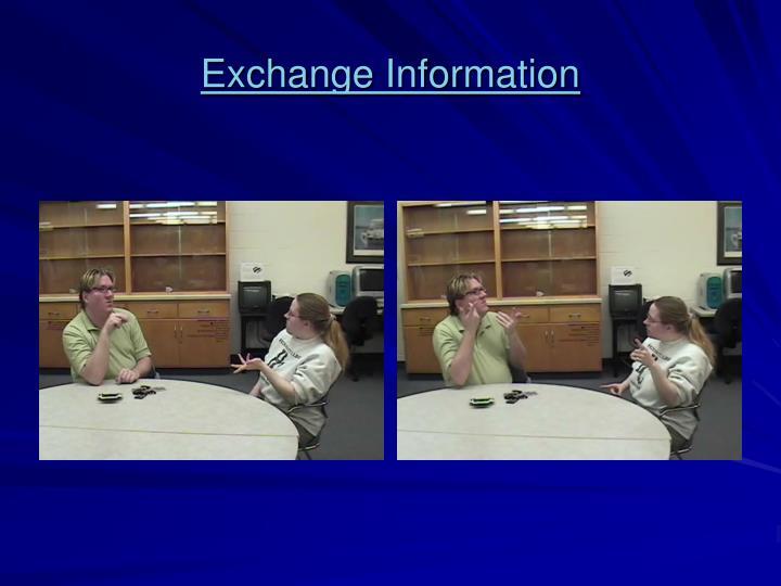 Exchange Information