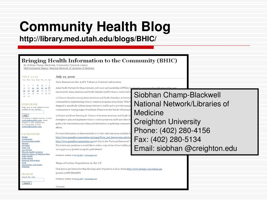 Community Health Blog
