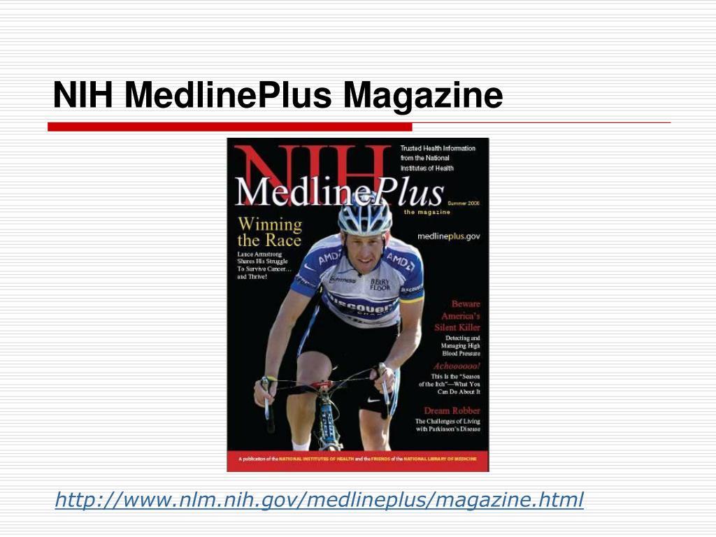 NIH MedlinePlus Magazine