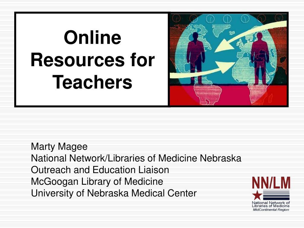 online resources for teachers l.