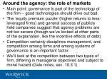 around the agency the role of markets