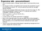 expensive talk precommitment