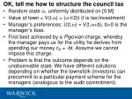 ok tell me how to structure the council tax