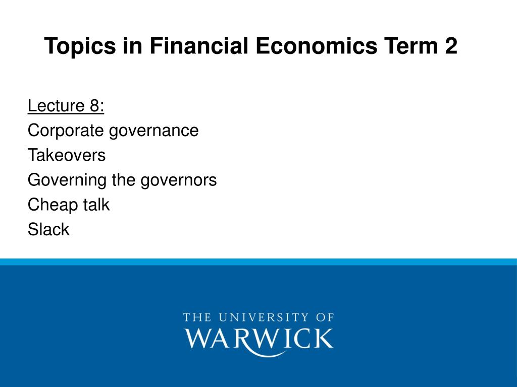 topics in financial economics term 2 l.