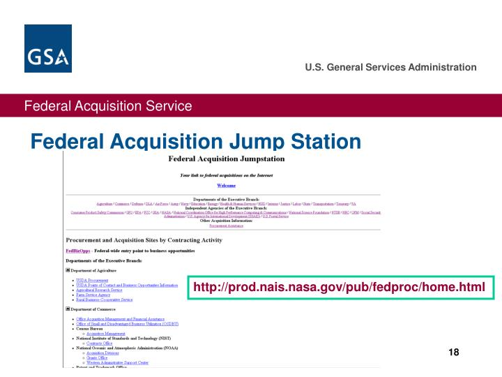 Federal Acquisition Jump Station