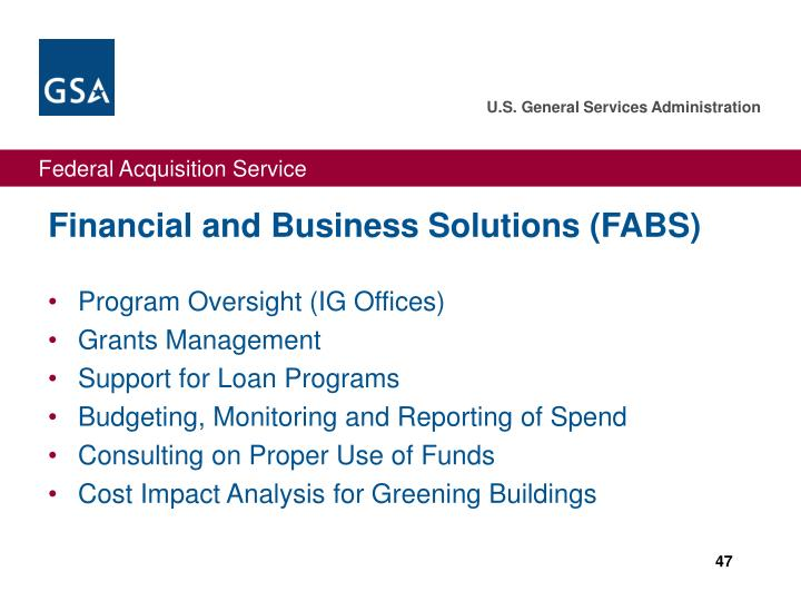 Financial and Business Solutions (FABS)