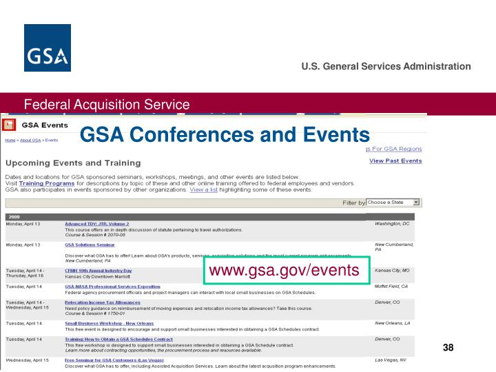 GSA Conferences and Events
