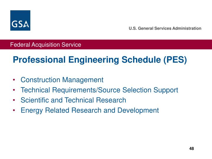 Professional Engineering Schedule (PES)
