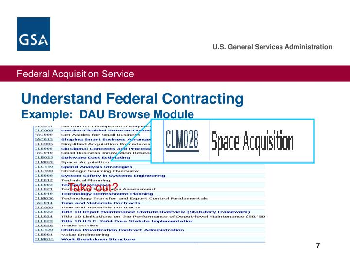 Understand Federal Contracting