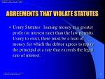 agreements that violate statutes7