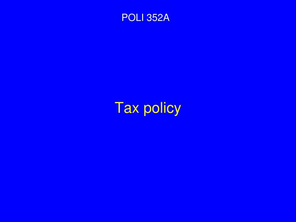 tax policy l.
