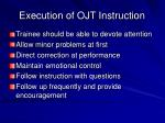 execution of ojt instruction18