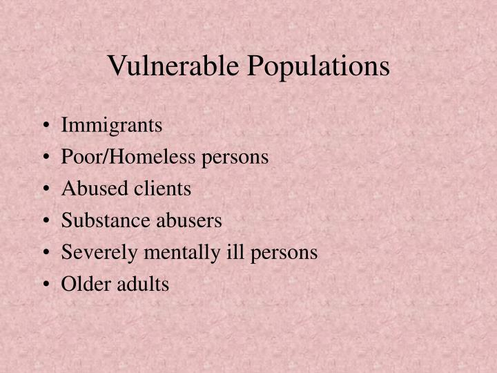 vulerable immigrant population