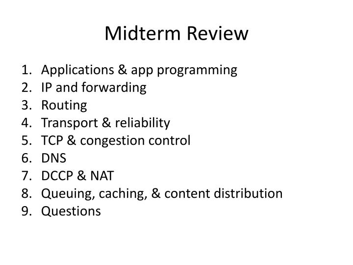 Midterm review1