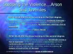 stopping the violence arson and juveniles2