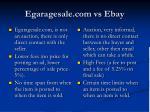 egaragesale com vs ebay
