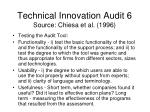 technical innovation audit 6 source chiesa et al 19961