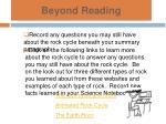 beyond reading