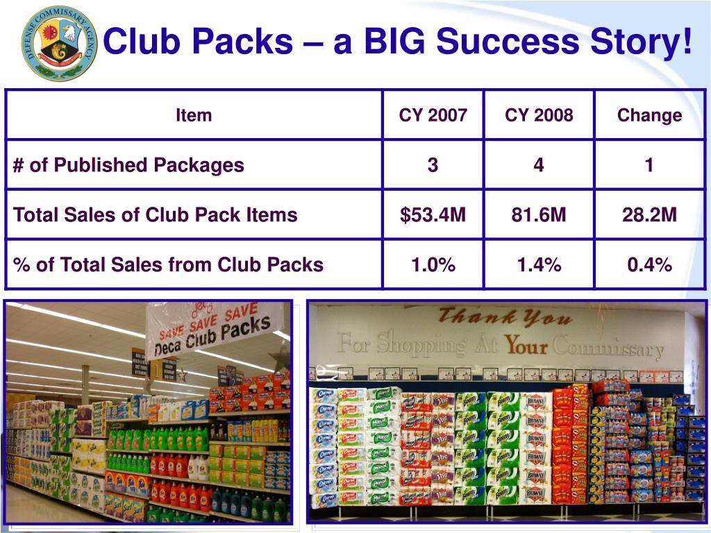 Club Packs – a BIG Success Story!