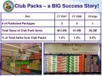 club packs a big success story