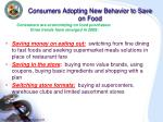 consumers adopting new behavior to save on food