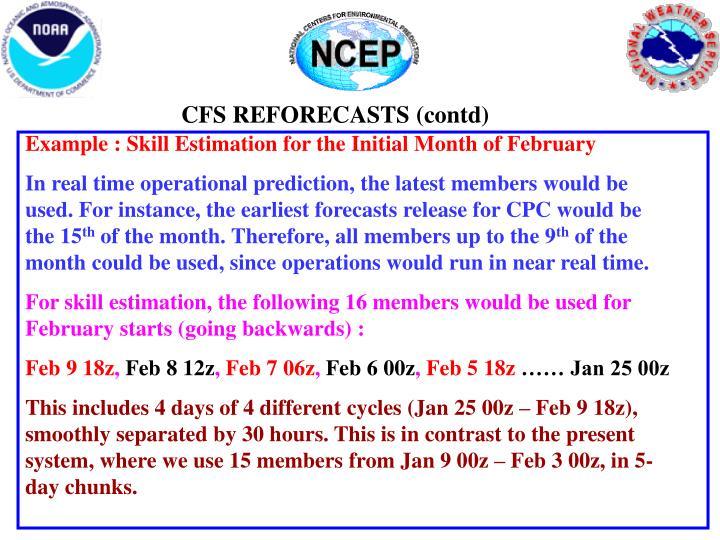 CFS REFORECASTS (contd)