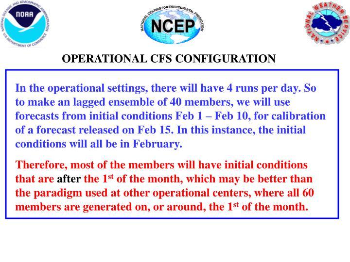 OPERATIONAL CFS CONFIGURATION