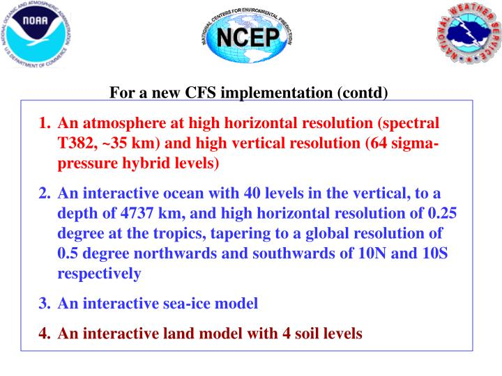 For a new CFS implementation (contd)