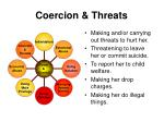 coercion threats