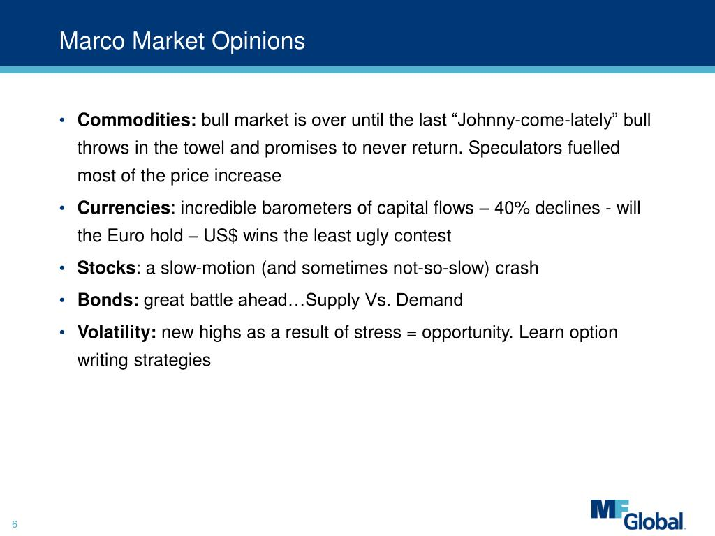 Marco Market Opinions