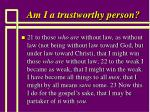 am i a trustworthy person71