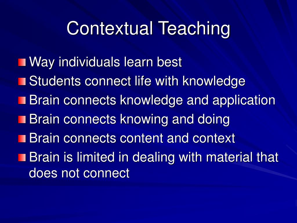 Contextual Teaching