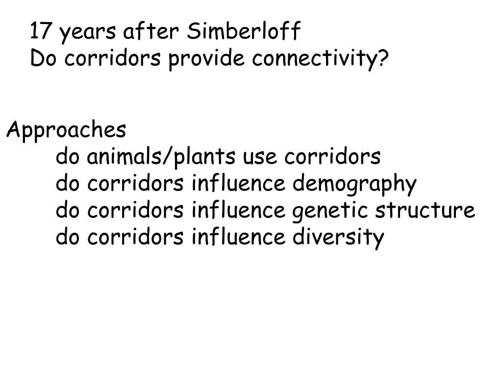 17 years after Simberloff